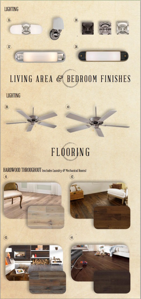CENTURY KNOXVILLE LIVING AND BEDROOM FINISHES